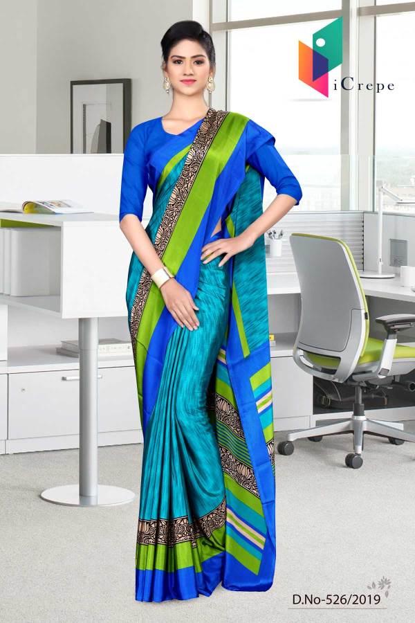 dark-blue-and-blue-italian-crepe-silk-corporate-uniform-saree-526