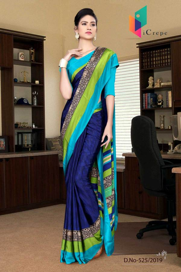 dark-blue-and-green-italian-crepe-silk-worker-uniform-saree-525