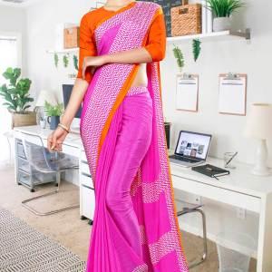 dark-pink-orange-premium-italian-silk-crepe-saree-for-showroom-uniform-sarees-1034-21