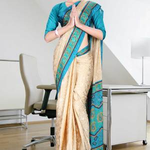 beige-and0green-jacquard-crepe-taj-hotel-uniform-sarees-31