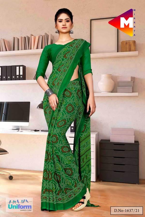 green-premium-georgette-bandhej-print-religious-ocassions-sarees-for-rajasthani-bandhani-1637