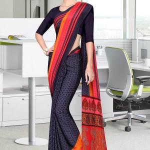 grey-and-black-italian-crepe-silk-showroom-uniform-saree-493