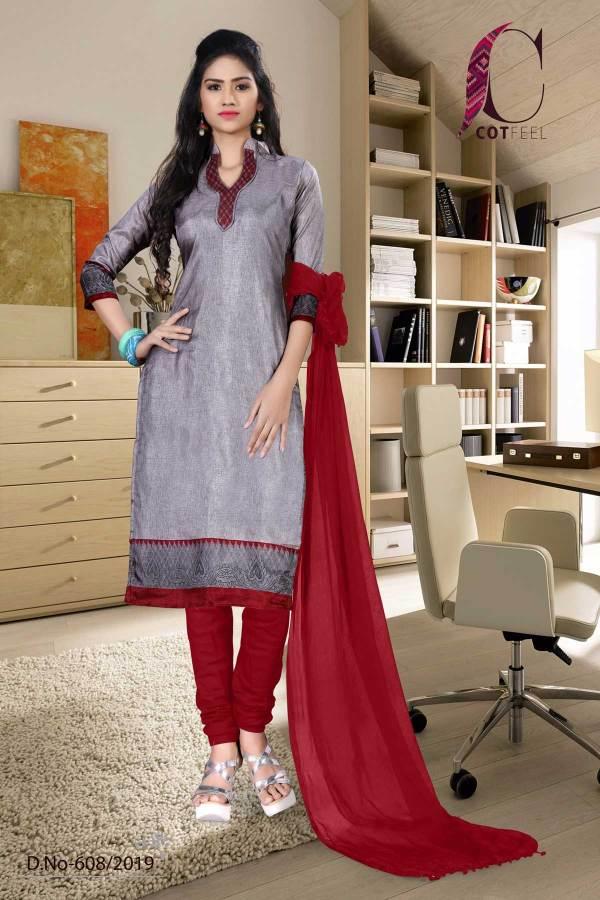 grey-with-maroon-border-tripura-cotton-hospital-uniform-salwar-kameez-608