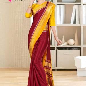 marron-yellow-italian-silk-crepe-salwar-kameez-for-school-uniform-sarees-1001