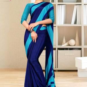 navy-blue-sea-green-gala-border-premium-italian-silk-crepe-uniform-saree-for-showroom-staff-1601