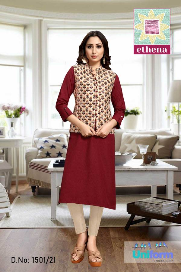 maroon-and-beige-newage-urban-workwear-for working-women-1501