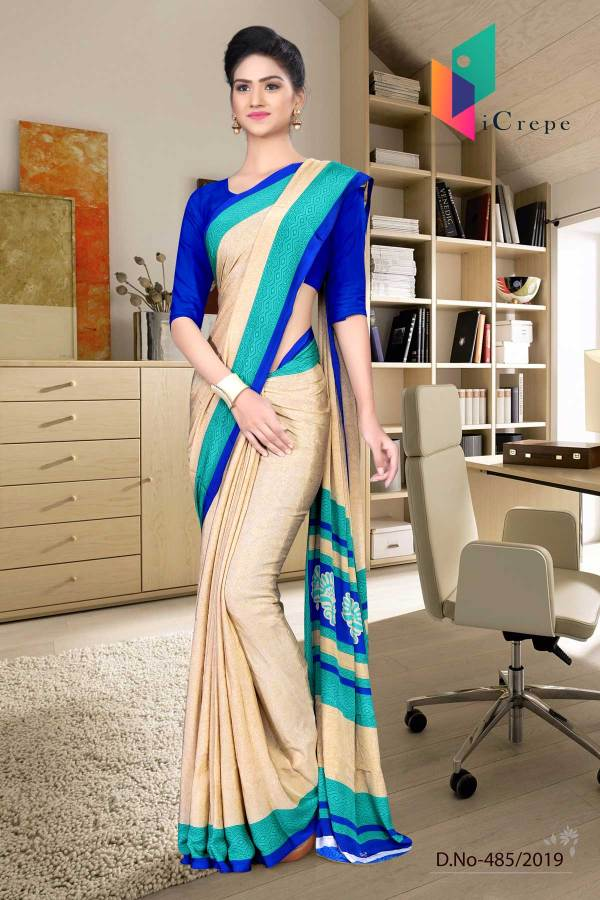 off-white-and-blue-italian-crepe-silk-simple-uniform-saree-485-19