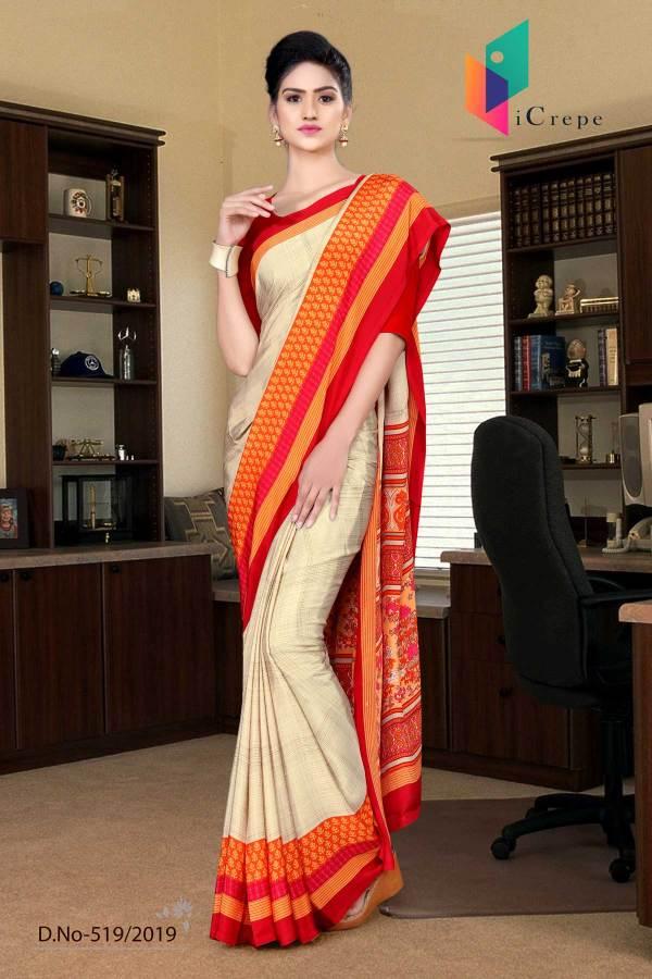 off-white-and-red-italian-crepe-silk-simple-uniform-saree-519