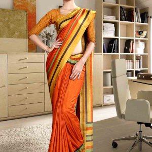 orange-and-yellow-fancy-corporate-uniform-saree-854-19