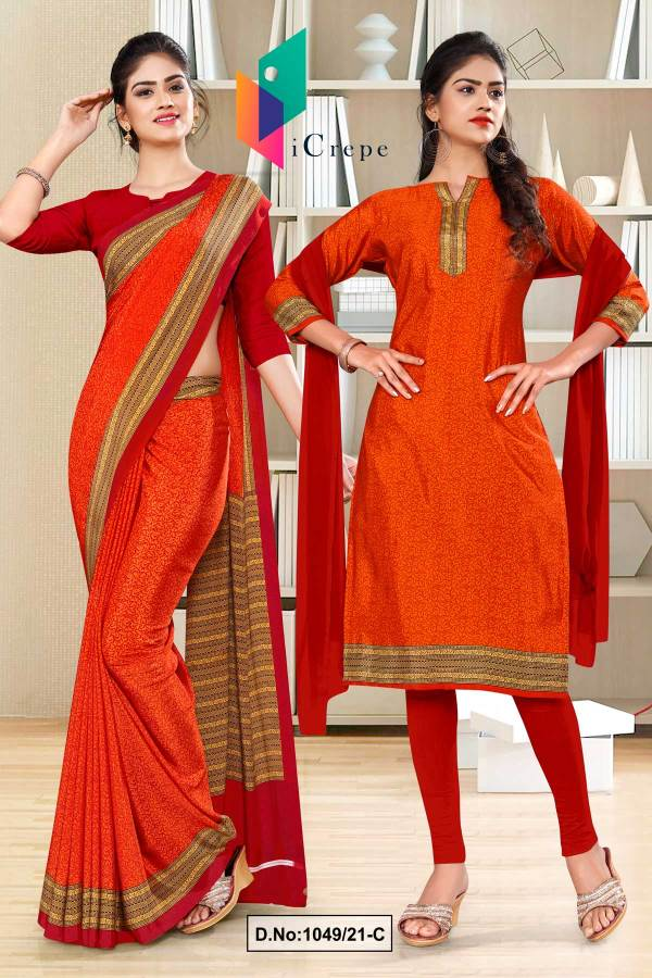 orange-red-paisley-print-premium-italian-silk-crepe-uniform-saree-salwar-kameez-for-jewellery-showroom-1049-C