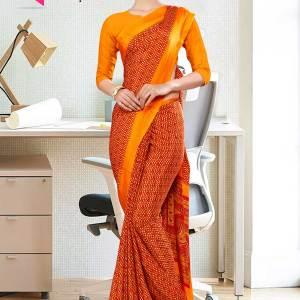 orange-small-print-premium-italian-silk-crepe-saree-for-hospital-uniform-sarees-1004-21