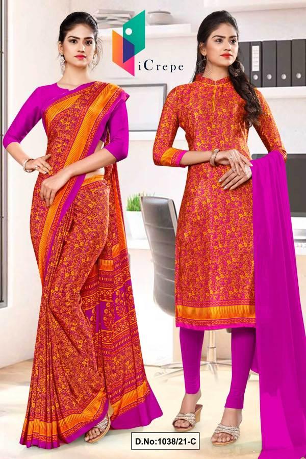 orange-wine-paisley-print-premium-italian-silk-crep-saree-salwar-combo-for-teachers-uniform-sarees-1038-C