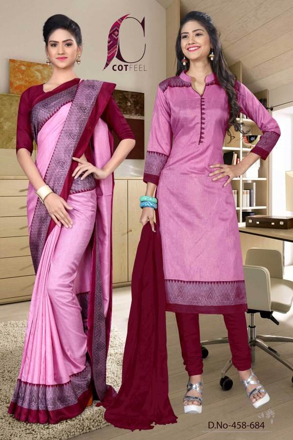 pink-and-maroon-tripura-cotton-staff-uniform-sarees-combo-458-684