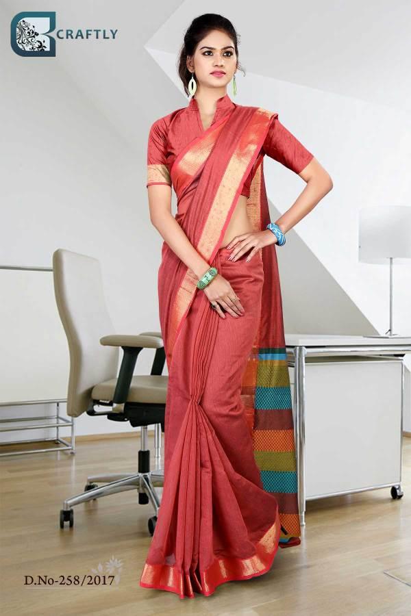 pink-golden-uniform-saree-258