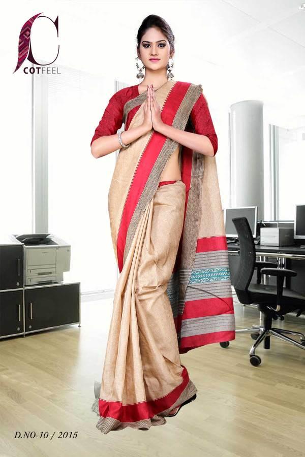 red-and-beige-tripura-cotton-uniform-saree-10-15