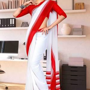 red-white-premium-georgette-mother-teresa-hospital-uniform-sarees-for-aayah-bai-staff-1626