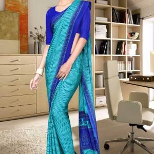 sky-blue-and-blue-italian-crepe-silk-hospital-uniform-saree-503-19