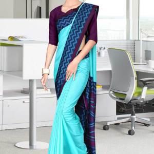 turquoise-and-purple-tripura-cotton-hotel-uniform-sarees-451-19