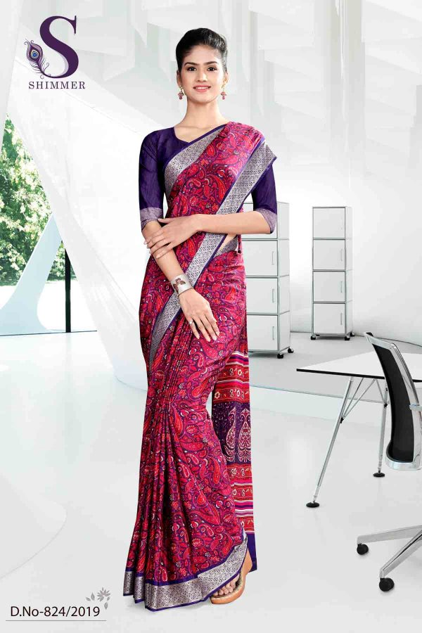 vilolet-pink-premium-paisley-print-italian-crepe-saree-for-teacheruniform-sarees-824