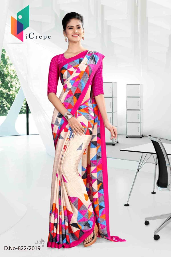 white-and-pink-icrepe-silk-institute-uniform-saree-822