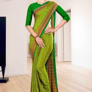yellow-green-paisley-print-premium-italian-silk-crepe-uniform-sarees-for-factory-workers-1059-21