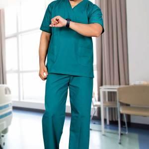 Hospital-Green-Doctors-Scrub-Medical-Uniforms-1555
