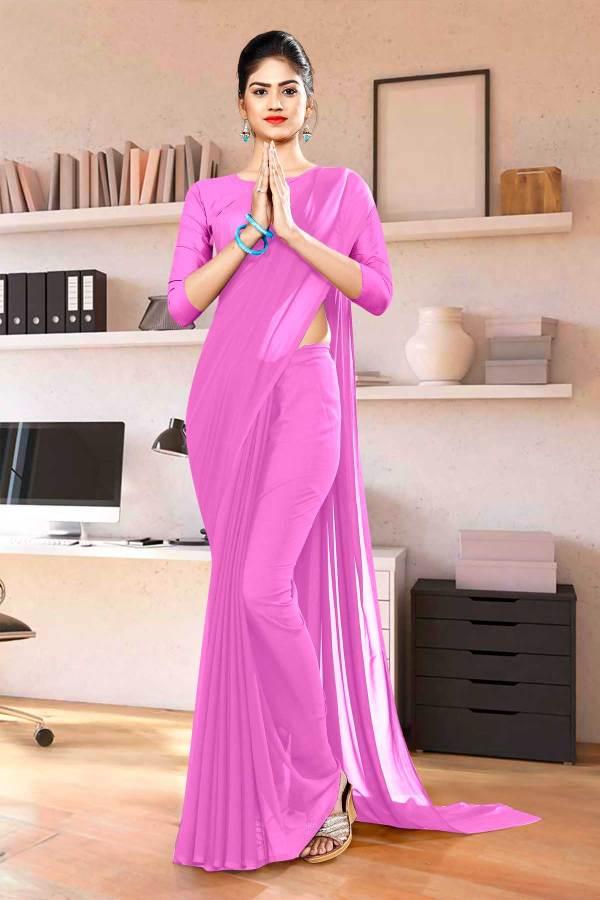 Light-Pink-Plain-Office-Uniform-Sarees-1123