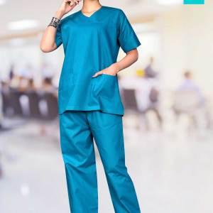 Peacock-Blue-Female-Scrub-Suit-Hospital-Uniforms-1546