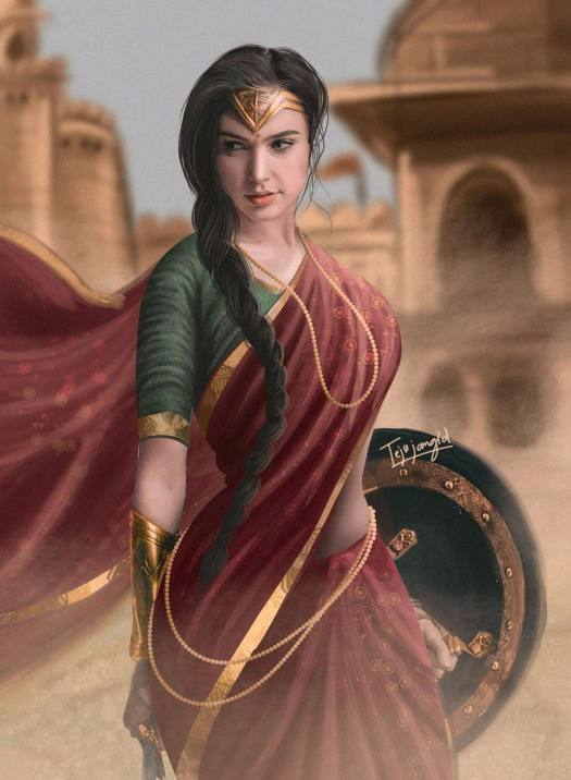 Marvel-Wonder-Women-In-Saree