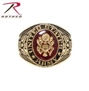 Rothco Deluxe Brass Engraved Ring - 822-A - Army