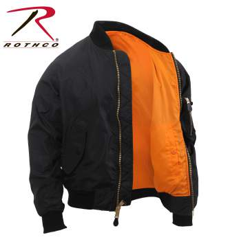 Rothco Lightweight MA-1 Flight Jacket - 6320-C - Black