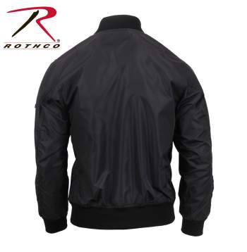 Rothco Lightweight MA-1 Flight Jacket - 6320-D - Black