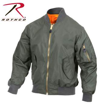 Rothco Lightweight MA-1 Flight Jacket - 6325-C - Green