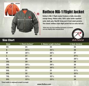 Rothco MA-1-Flight Jacket-Size Chart-8