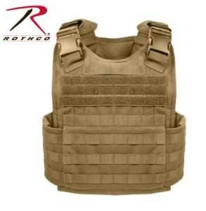 Rothco MOLLE Plate Carrier Vest - 8923-A - Coyote Brown