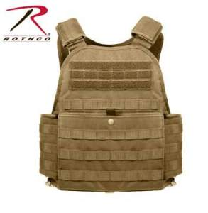 Rothco MOLLE Plate Carrier Vest - 8923-B - Coyote Brown