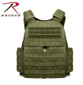 Rothco MOLLE Plate Carrier Vest - 8924-B - Olive Drab
