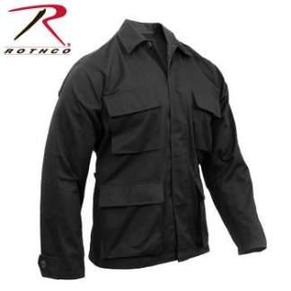 Rothco Poly-Cotton Twill Solid BDU Shirts - 7970-B - Black