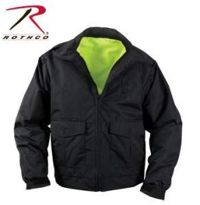 Rothco Reversible Hi-visibility Uniform Jacket - 8720_black_side_inset_flat-hr