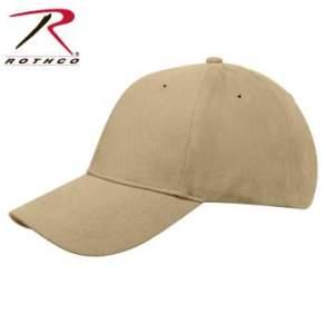 Rothco Supreme Solid Color Low Profile Cap - 8977-C - Khaki