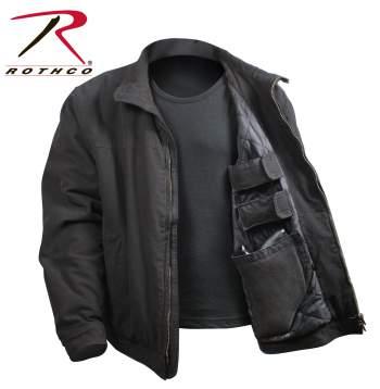 Rothco 3 Season Concealed Carry Jacket - 5385-Black-B