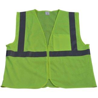 Petra Roc - ANSI ISEA Class 2 Safety Vest - LVM2-CB0 - Lime Mesh