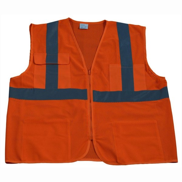Petra Roc - Hi Visibility Safety Vest - OVM24-FO1100-Orange-Front