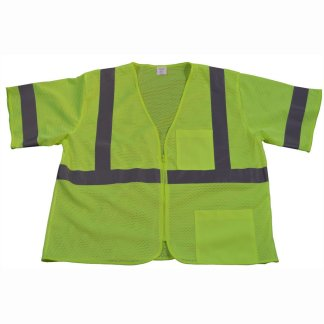 Petra Roc Lime Mesh ANSI Class 3 Safety Vest LVM3-Z-Front