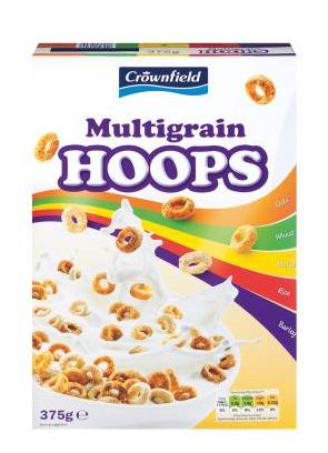 Multigrain hoops crownfield cereals