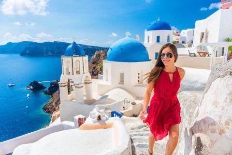 Santorini girls holiday