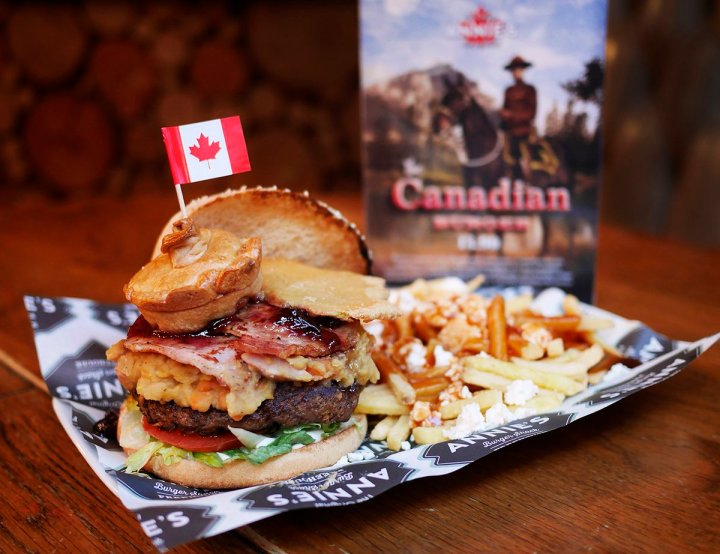 Canadian Burger, Annie's Burger Shack, Nottingham