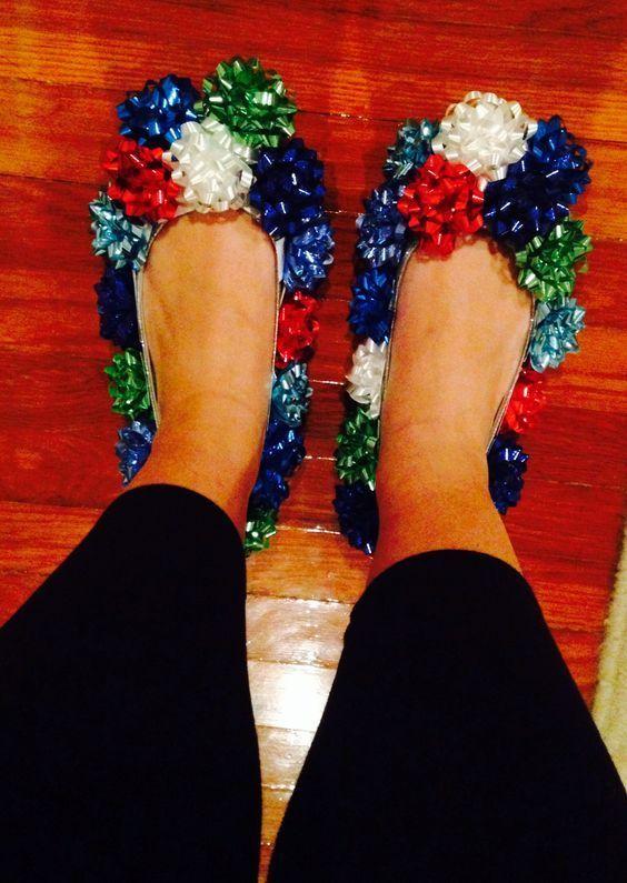 Christmas slippers wacky christmas costume
