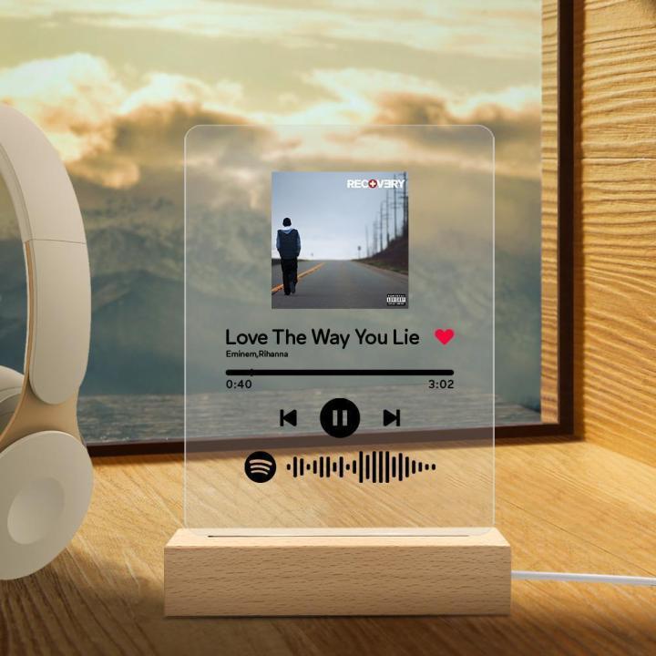Spotify Glass valentine's day gift
