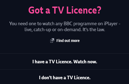 do I need a TV licence to watch netflix